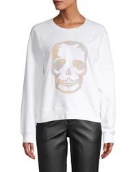 Zadig & Voltaire Embroidered Skull Cotton Jumper - Grey