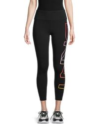 DKNY Women's Exploded Ombre Logo Leggings - Black - Size L