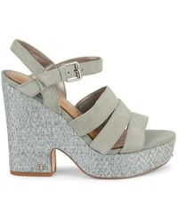 Sam Edelman Women's Liora Strappy Platform Sandals - Seafoam - Size 10 - Multicolor