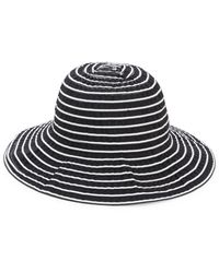 San Diego Hat Company Striped Cloche Hat - Blue