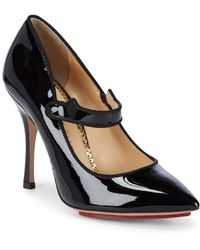 Charlotte Olympia - Point Toe Leather Mary Jane - Lyst