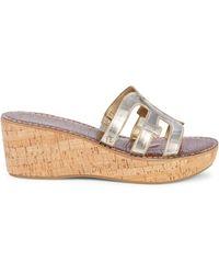 Sam Edelman Regis Wedge Leather Sandals - Multicolour