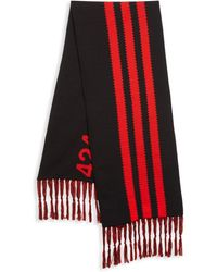 adidas Men's 424 Stripe Scarf - Black Red - Multicolor