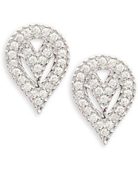 Sara Weinstock Geo 18k White Gold & 0.4 Tcw Diamond Pear Earrings - Multicolour