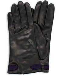 Portolano Calf Hair-detailed Nappa Leather Gloves - Black