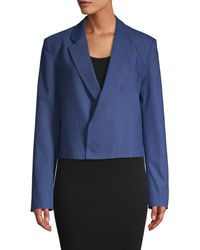 Tibi Women's Open-front Blazer - Blue - Size 4