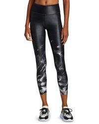 Heroine Sport Smoke Cropped Leggings - Black
