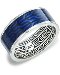 John Hardy Classic Chain Sterling Silver Band - Multicolour