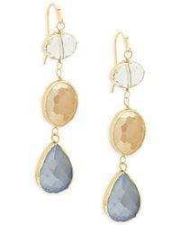 Panacea - Faceted Drop Earrings - Lyst