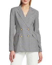 10 Crosby Derek Lam Rodeo Double-breasted Checker Jacket - Blue
