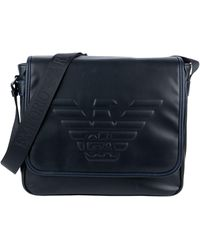 Emporio Armani Logo Messenger Bag - Black
