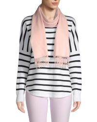 Saks Fifth Avenue Solid Cashmere Scarf - Pink