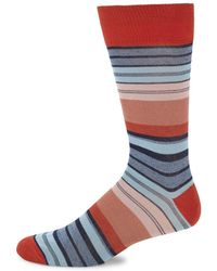 Saks Fifth Avenue - Mercerized Tennis Stripe Mid-calf Socks - Lyst