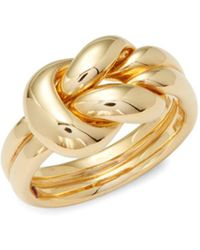 Roberto Coin - Yellow Gold Knot Ring - Lyst