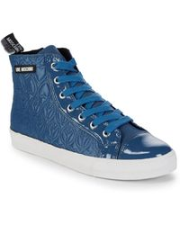 Love Moschino - Quilted High-top Sneakers - Lyst