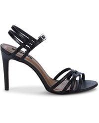 BCBGMAXAZRIA Strappy Leather Heeled Sandals - Black
