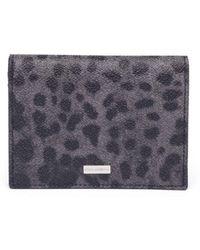 Dolce & Gabbana - Leopard Print Leather Bifold Wallet - Lyst