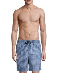 Brooks Brothers Geometric-print Swim Shorts - Blue