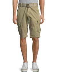 Xray Jeans Camo-printed Cotton Shorts - Green