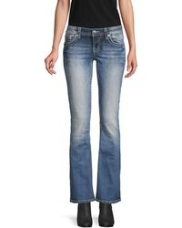 Miss Me Medium-wash Bootcut Jeans - Blue