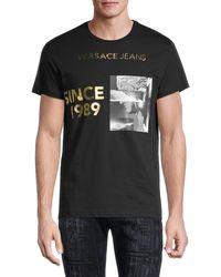 Versace Jeans Couture Graphic Cotton Jersey T-shirt - Black