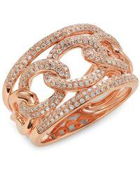 Saks Fifth Avenue Women's 14k Rose Gold & Diamond Ring - Size 7 - Metallic