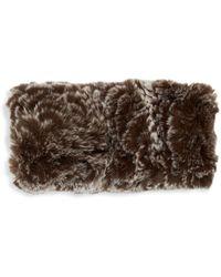 Saks Fifth Avenue Rex Rabbit Fur Headband - Brown