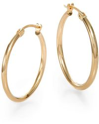 Saks Fifth Avenue - 14K Yellow Gold Hoop Earrings/0.75 Inches - Lyst