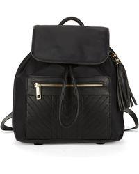Karl Lagerfeld - Tassel-accent Flap-closure Backpack - Lyst