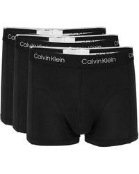 Calvin Klein 3-pack Logo Boxer Briefs - Black