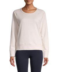 James Perse Women's Raglan-sleeve Sweatshirt - Drop - Size 0 (xs) - Multicolor