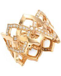 Sara Weinstock Chloe 18k Rose Gold & Diamond Ring - Metallic