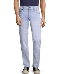 True Religion Geno Relaxed Slim-fit Flap-pocket Jeans - Blue