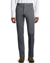 Zanella Men's Noah Flat-front Trousers - Navy - Size 34 - Blue