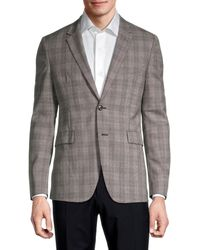 Paul Smith Standard-fit Wool Check Blazer - Natural