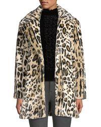 FRAME Leopard-print Faux Fur Coat - Brown