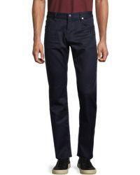 BOSS by Hugo Boss Men's Cotton-blend Trousers - Navy - Size 30 32 - Blue