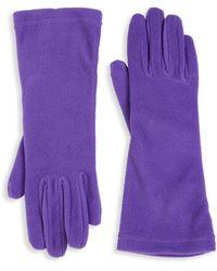 Portolano Plush Gloves - White