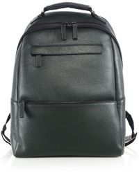 Saks Fifth Avenue Collection Oblique-zip Leather Backpack - Green