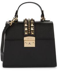 Valentino By Mario Valentino Cleo Pal Rockstud-embellished Leather Crossbody Bag - Black
