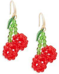 Ava & Aiden Beaded Cherry Earrings - Multicolour