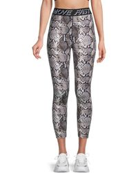 Pam & Gela Snake-print Stretch Leggings - Natural