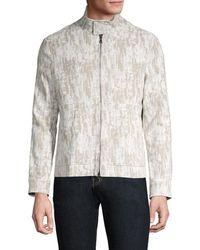 John Varvatos Men's Zip-up Jacket - Cork - Size 54 (44) - Multicolor