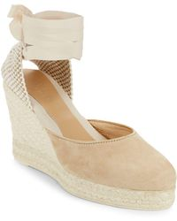 Manebí - Low Suede Wedge Espadrilles - Lyst