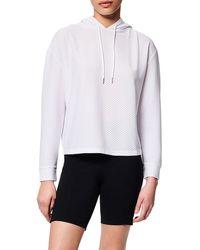 Marc New York Mesh-knit Hoodie - White