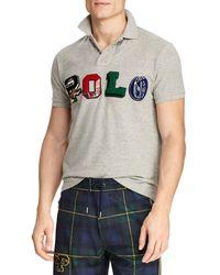Ralph Lauren Polo Applique Logo Polo Shirt - Grey