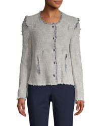 IRO Agnette Frayed-trim Jacket - Multicolor