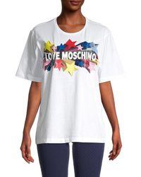 Love Moschino Women's Boxy Logo T-shirt - Optical White - Size 42 (8)