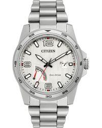 Citizen Prt Eco-drive Stainless Steel Analog Bracelet Watch - Metallic