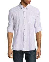 John Varvatos - Striped Cotton Button-down Shirt - Lyst